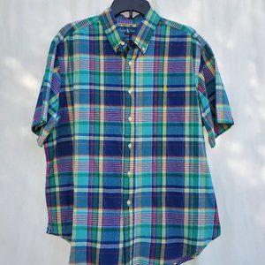 Ralph Lauren Men's XL Short Sleeve Plaid